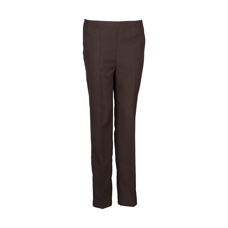 Donker bruine senioren pantalon