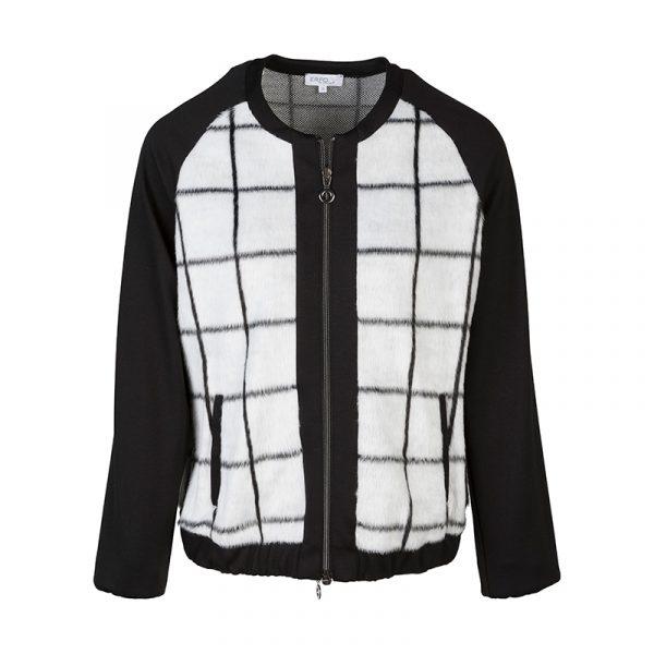 Zwart/witte blazer