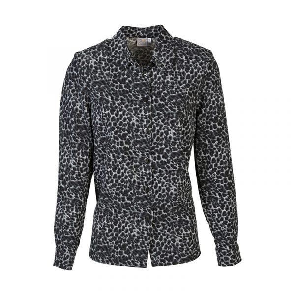 Donkere panter blouse