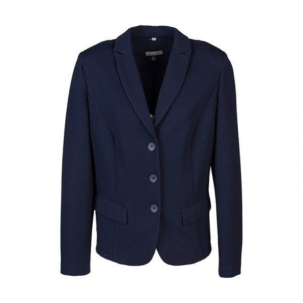 Blauwe korte blazer