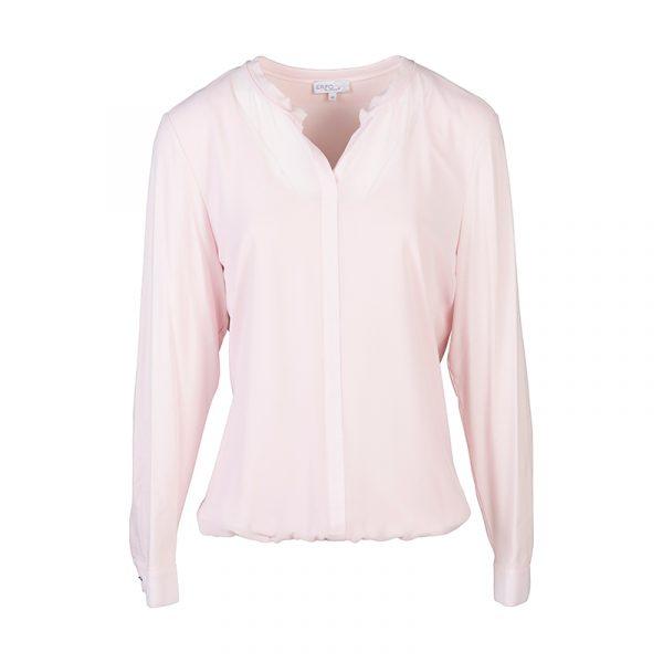 Effen licht roze blouse