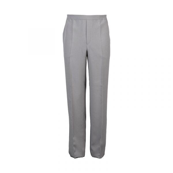 Heren pantalon elastische band midden grijs