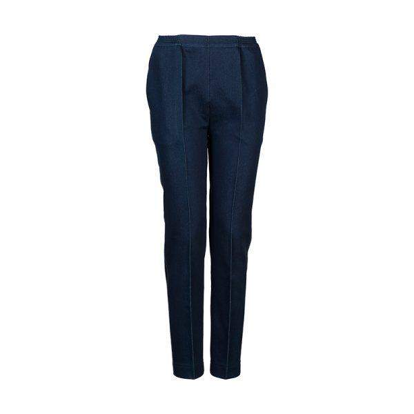 Donker blauwe dames pantalon