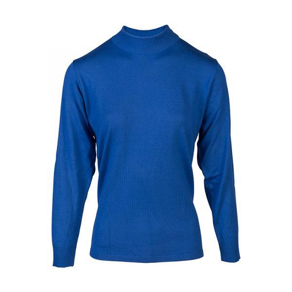 Kobalt turtle-kraag pullover