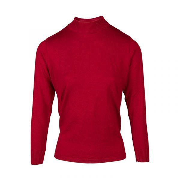 Rode turtle-kraag pullover