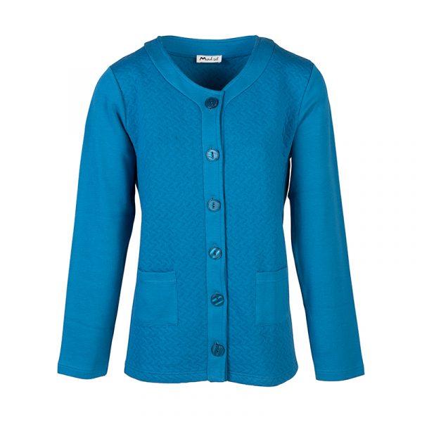Blauw dames vest
