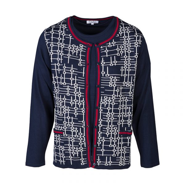 Dames vest twinset navy