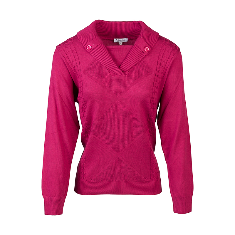 Roze dames pullover