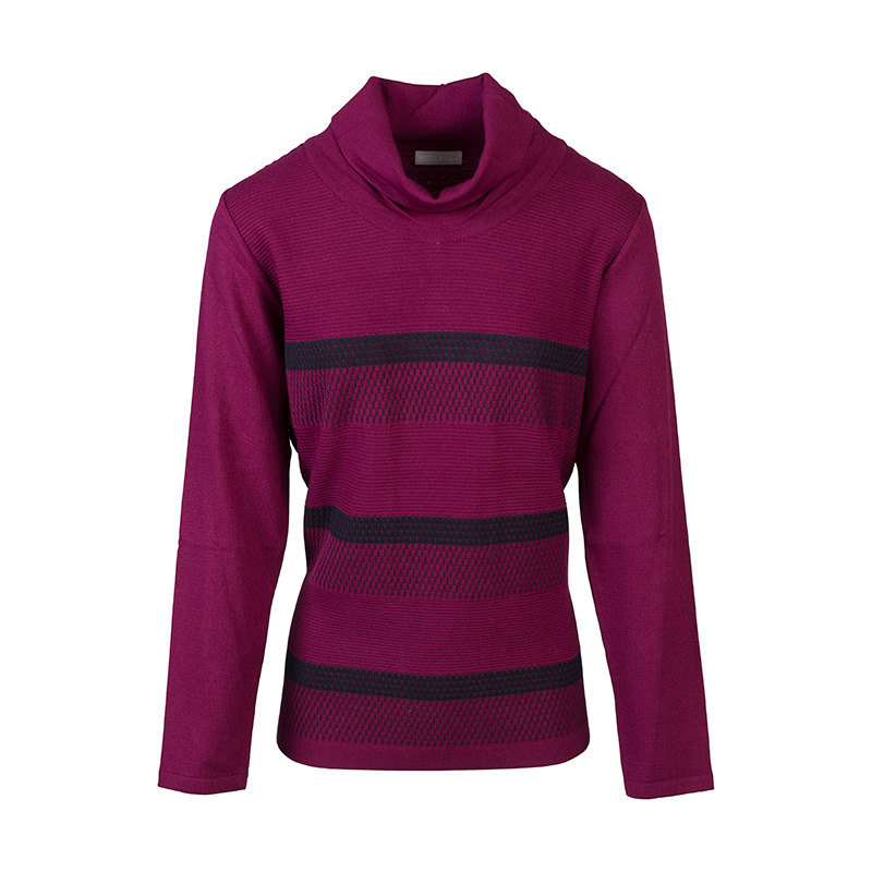 Roze gestreepte dames pullover