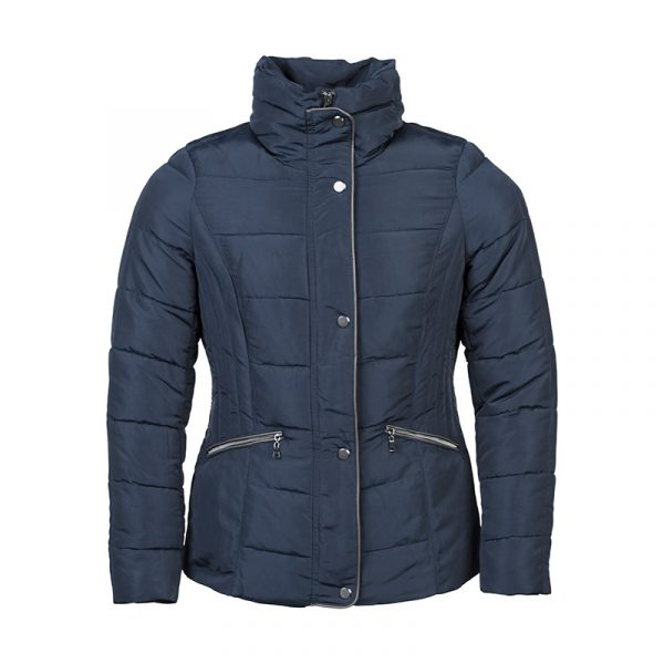 Donker blauwe dames jas