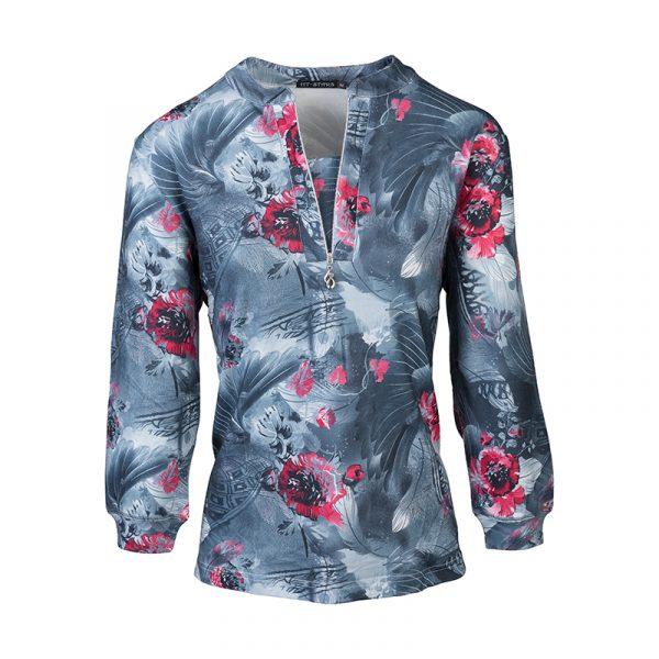 Dames shirt met v-hals