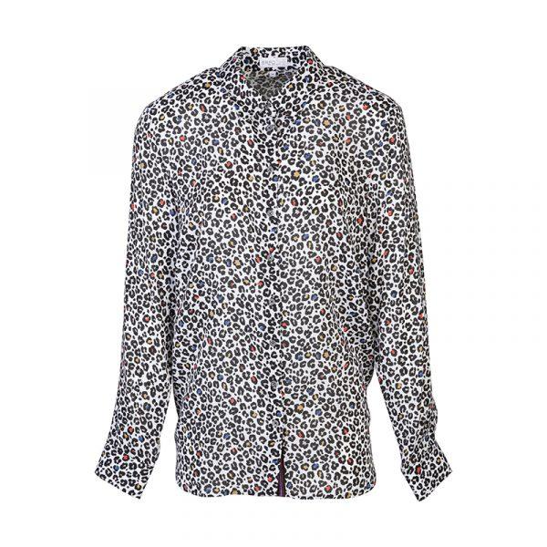 Gekleurde panter blouse