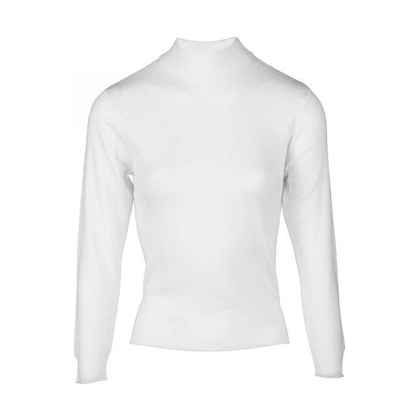 Ecru turtle-kraag pullover