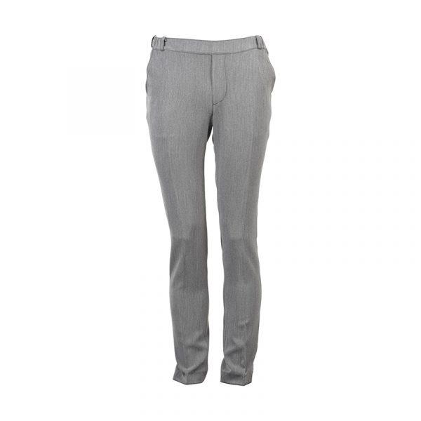 Heren pantalon elastische band grijs