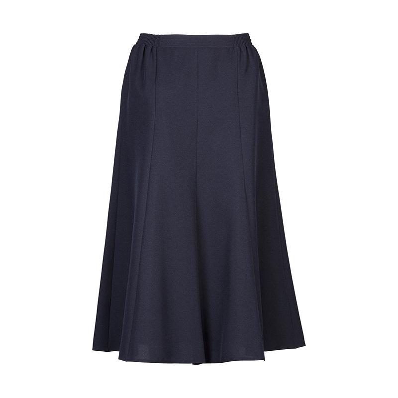Blauwe dames banen rok