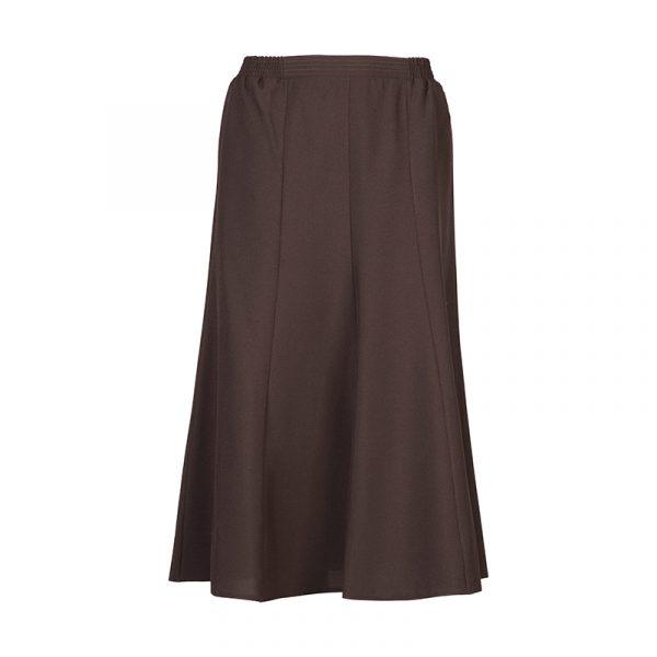 Bruine dames banen rok