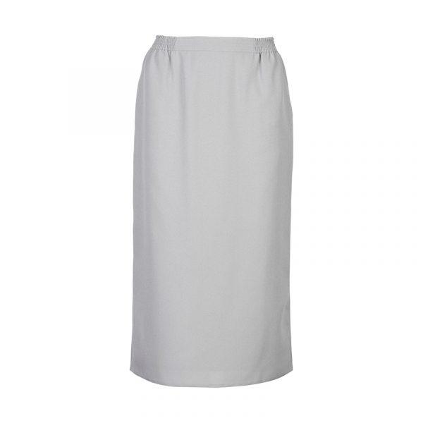 Rechte licht grijze dames rok