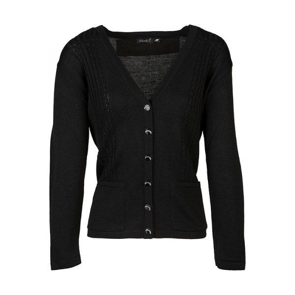Zwart dames vest met knoopjes