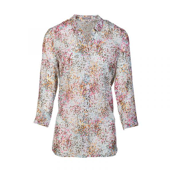 Blouse voor dames met gekleurd patroon