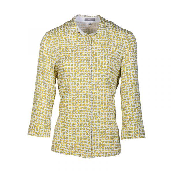 Gele blouse met motief voor dames