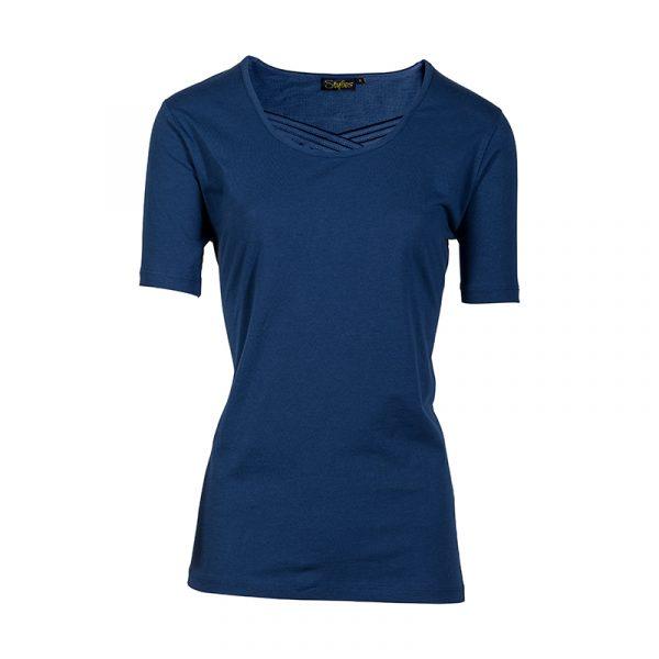 Shirt 100% katoen dames blauw
