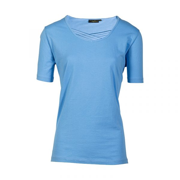 Damesshirt in uni lichtblauw