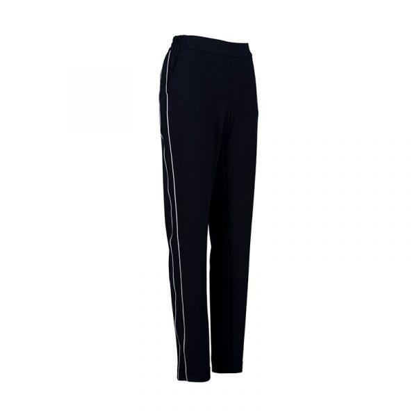 Dames pantalon met elastiek navy