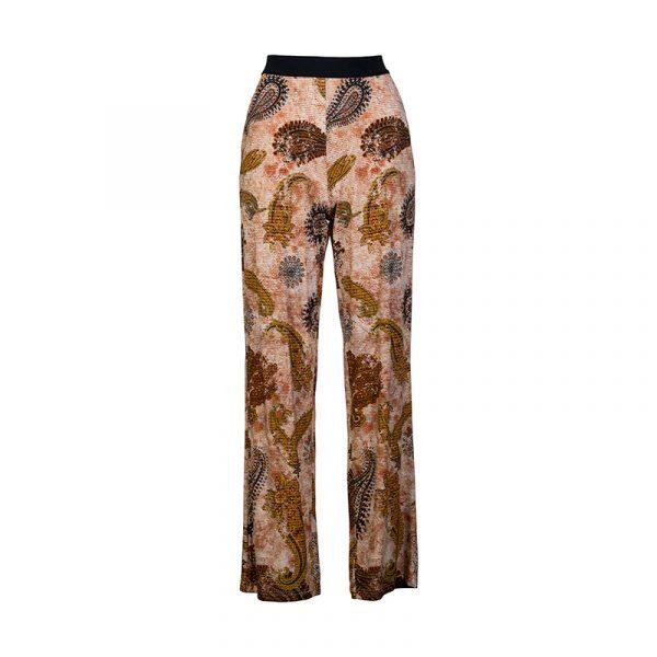 Pantalon voor dames met print lange lengte