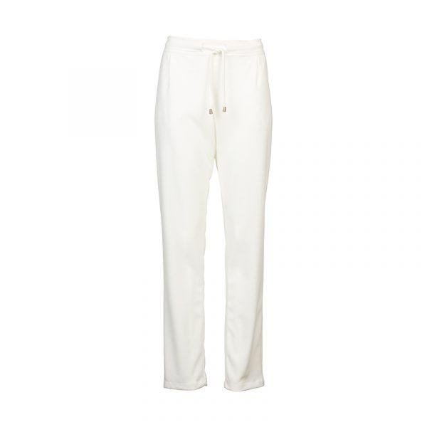 Dames Pantalon met Elastische Band Off White