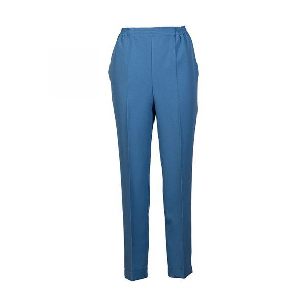 Dames Pantalon met Elastiek Lichtblauw