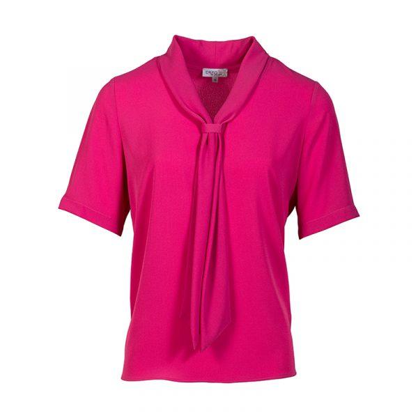 Fuchsia roze blouse dames