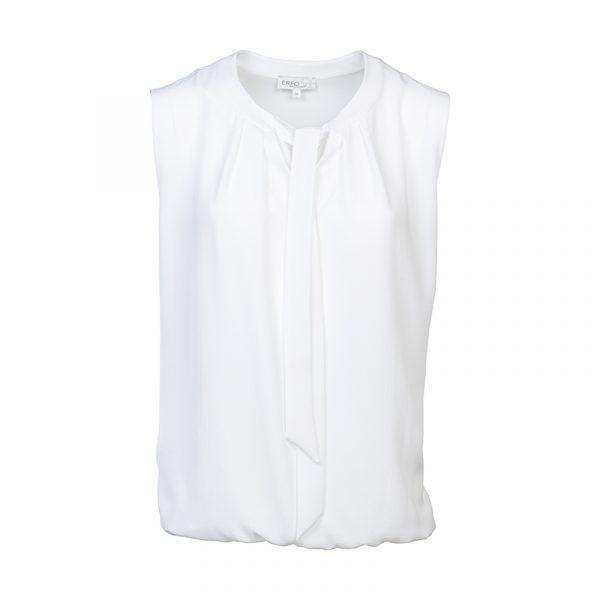 Witte mouwloze damestop