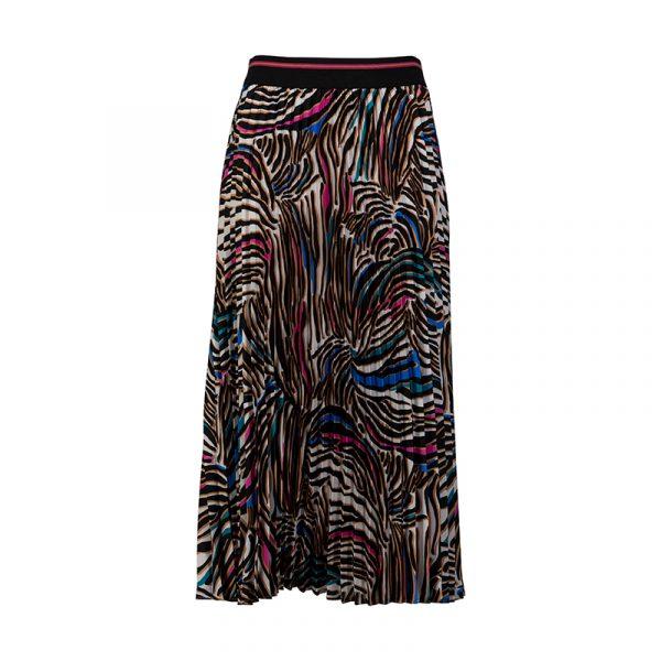 Lange zwarte rok met trendy print