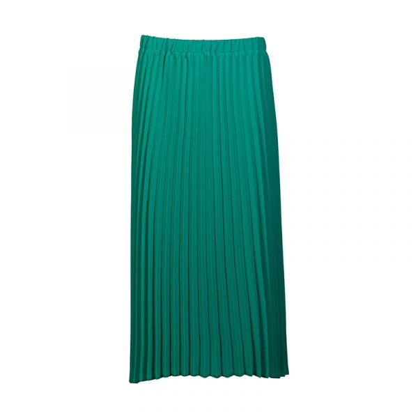 Lange groene rok met elastische band