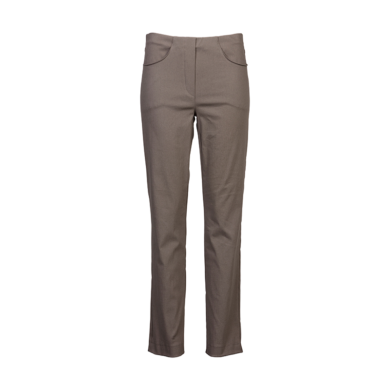 Dames Pantalon met Elastiek Taupe