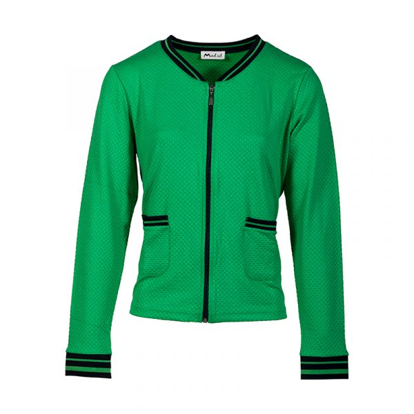 Groen damesvest met boord