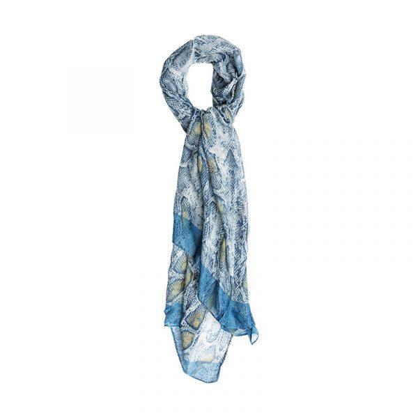 blauwe sjaal dames