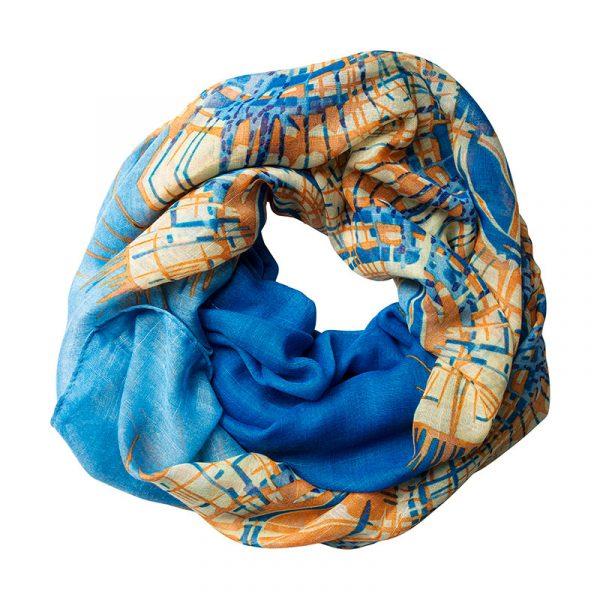 sjaal-blauw-oranje